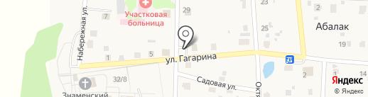 Магазин продуктов на Советской на карте Абалака