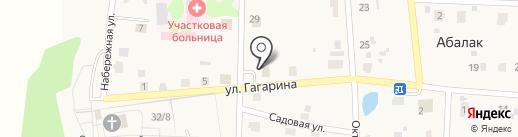 Магазин продуктов на карте Абалака