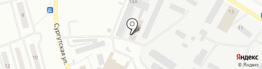 Ньютех Велл Сервис на карте Нефтеюганска