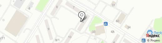 Нимфа на карте Нефтеюганска
