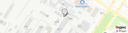 Гостиница на карте Нефтеюганска