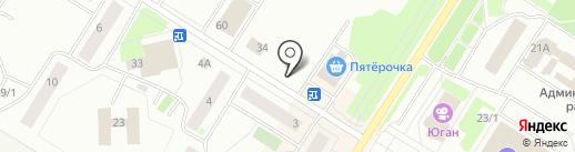 Магазин фруктов и овощей на карте Нефтеюганска