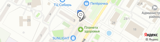 Аудиофон на карте Нефтеюганска