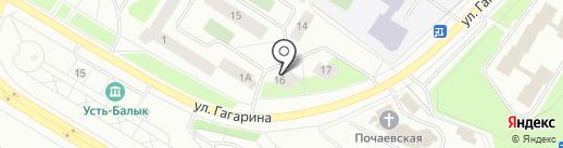 Веселая расческа на карте Нефтеюганска
