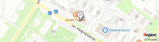 Юкорт на карте Нефтеюганска