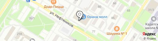 Юность на карте Нефтеюганска