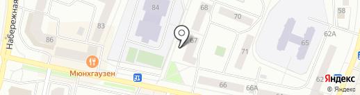Лиген на карте Нефтеюганска