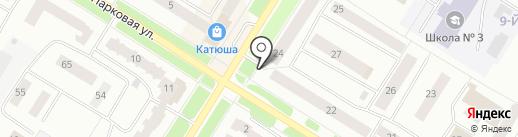 Овощной магазин на карте Нефтеюганска