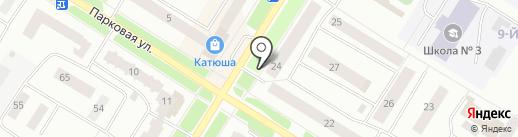 Цветочный магазин на карте Нефтеюганска