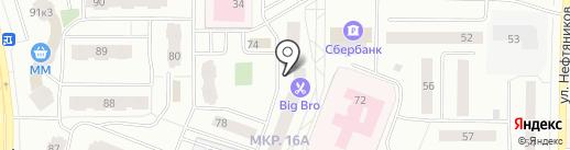 Банкомат, АКБ Росбанк на карте Нефтеюганска