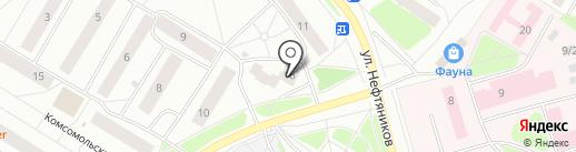 Экона на карте Нефтеюганска