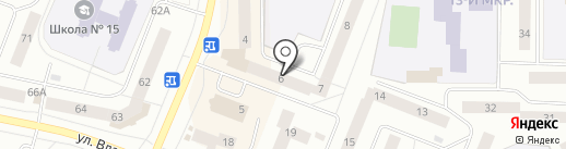 Газелька на карте Нефтеюганска