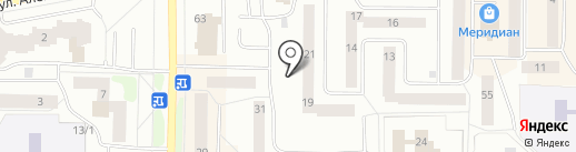 Клумба на карте Нефтеюганска