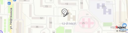 Бюро медико-социальной экспертизы по Ханты-Мансийскому автономному округу-Югре на карте Нефтеюганска