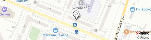 Лотос на карте Нефтеюганска