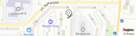 Дачница на карте Нефтеюганска