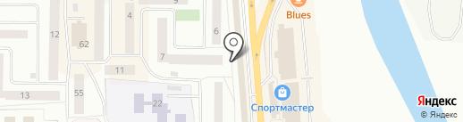 Мастак на карте Нефтеюганска