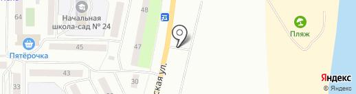 Автостоянка на карте Нефтеюганска