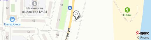 Автостоянка на ул. 13-й микрорайон на карте Нефтеюганска