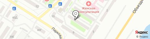 Ирина на карте Нефтеюганска
