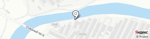 Техновектор на карте Нефтеюганска