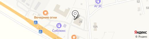Сиблюкс на карте Красного Яра
