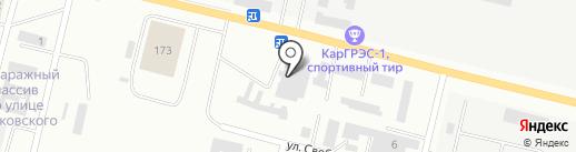 Аян-М на карте Темиртау