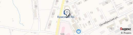 Универмаг на карте Красного Яра