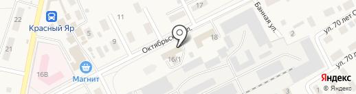 Совет ветеранов Красноярского городского поселения Любинского муниципального района Омской области на карте Красного Яра