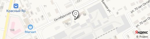 Магазин электроматериалов на карте Красного Яра