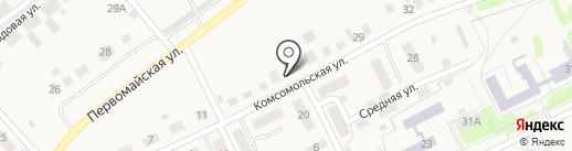 Заря на карте Красного Яра