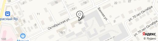 Покровское на карте Красного Яра