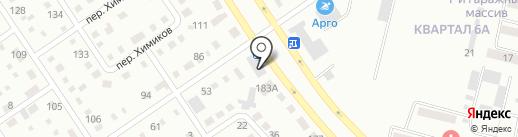 Перекресток на карте Темиртау