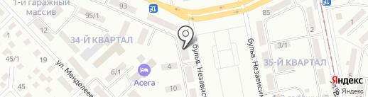 Мирэ на карте Темиртау