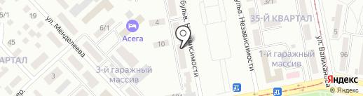 Шарм на карте Темиртау