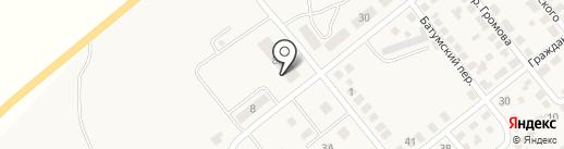 Автостоянка для грузовых автомобилей на карте Актаса
