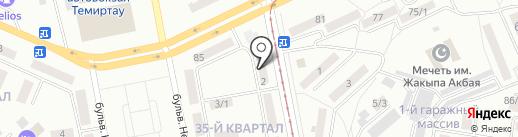 Джин на карте Темиртау