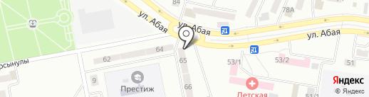 Киоск по продаже цветов на карте Темиртау