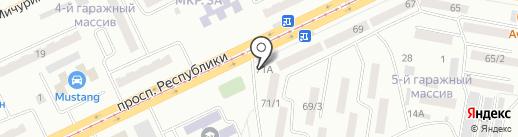 Магазин косметики на карте Темиртау