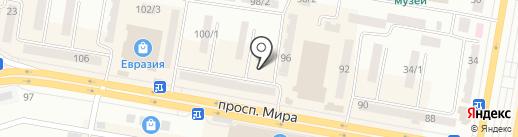 Киоск по ремонту обуви на карте Темиртау