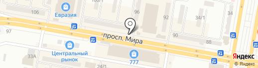 Цветочный киоск на карте Темиртау