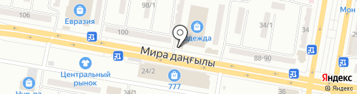 Семицветик на карте Темиртау