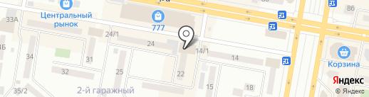 Магазин бытовой химии на ул. 6-й микрорайон на карте Темиртау