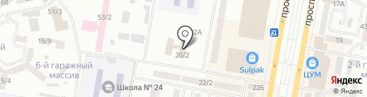 Студия загара на карте Темиртау