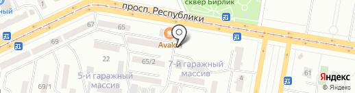 Мастерская шиномонтаж на проспекте Республики на карте Темиртау