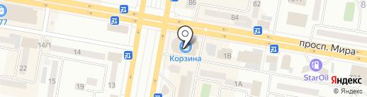 Корзина на карте Темиртау