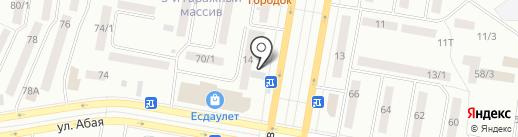 Съешка на карте Темиртау