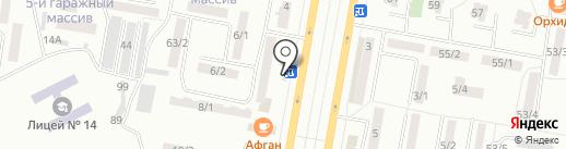 Аист на карте Темиртау