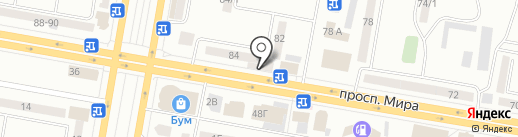 Виолетта на карте Темиртау