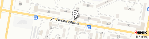 Амангельды на карте Темиртау